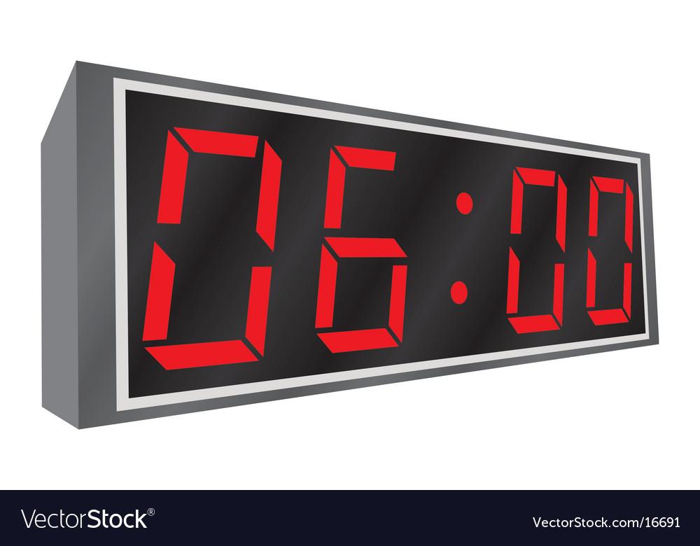 Electronic alarm clock vector
