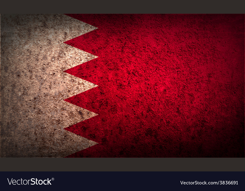 Flag of bahrain with old texture vector | Price: 1 Credit (USD $1)