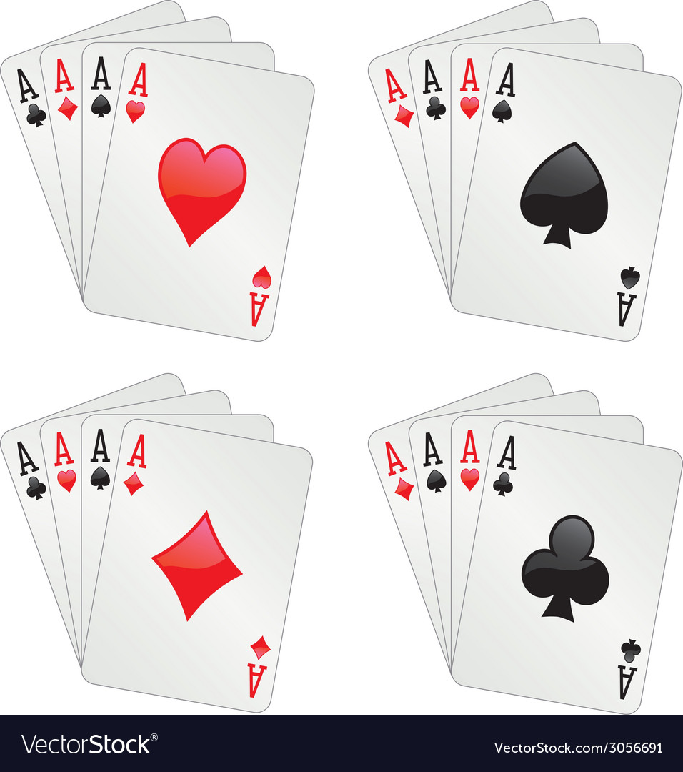 Four aces poker vector | Price: 1 Credit (USD $1)