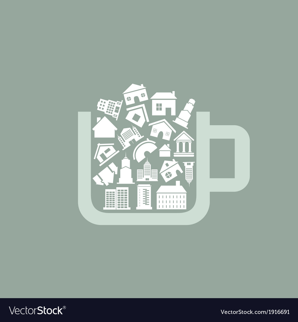 House a cup vector | Price: 1 Credit (USD $1)