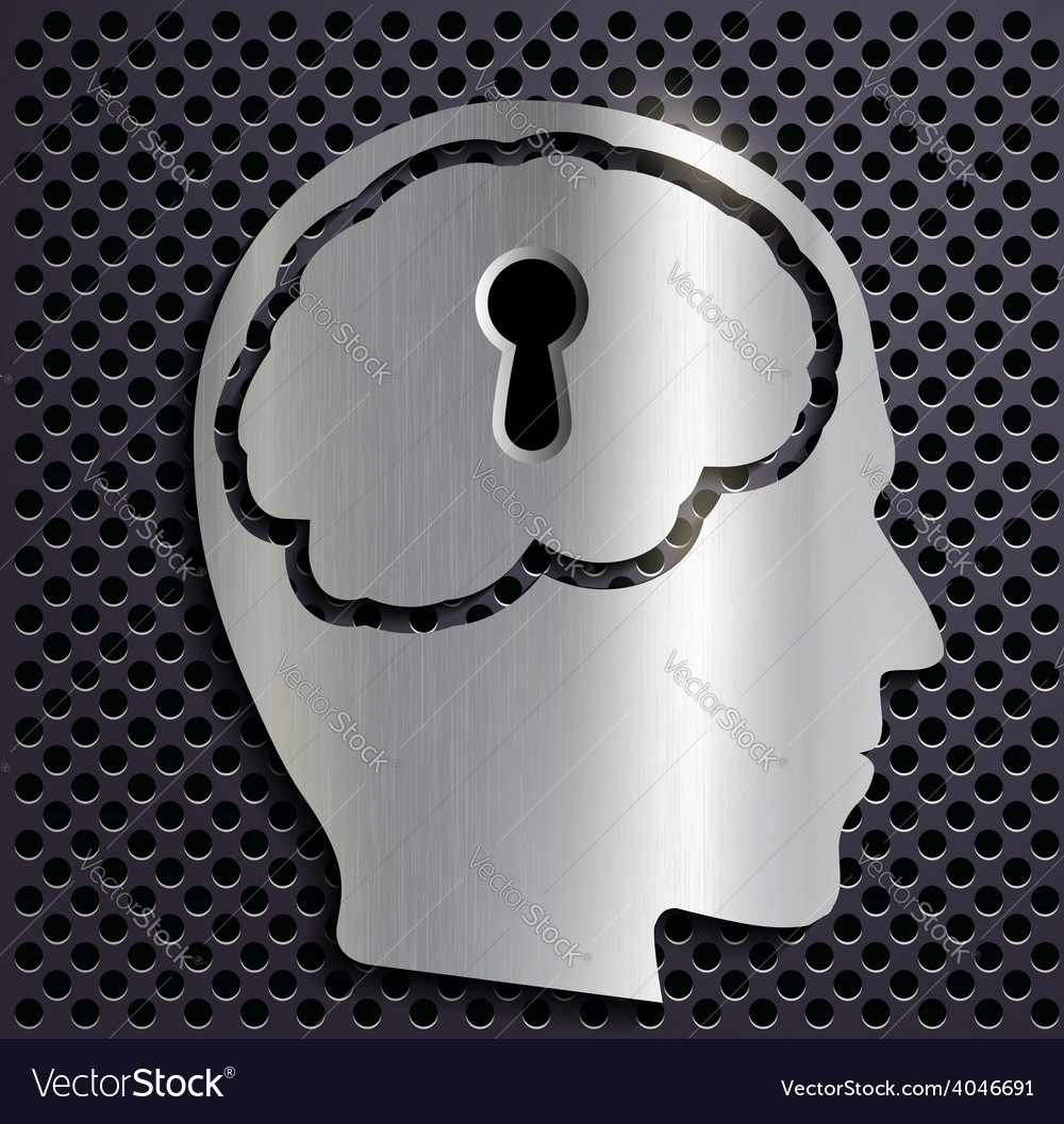 Human head with a keyhole vector | Price: 1 Credit (USD $1)