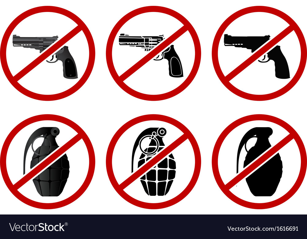 No pistols and grenades vector | Price: 1 Credit (USD $1)