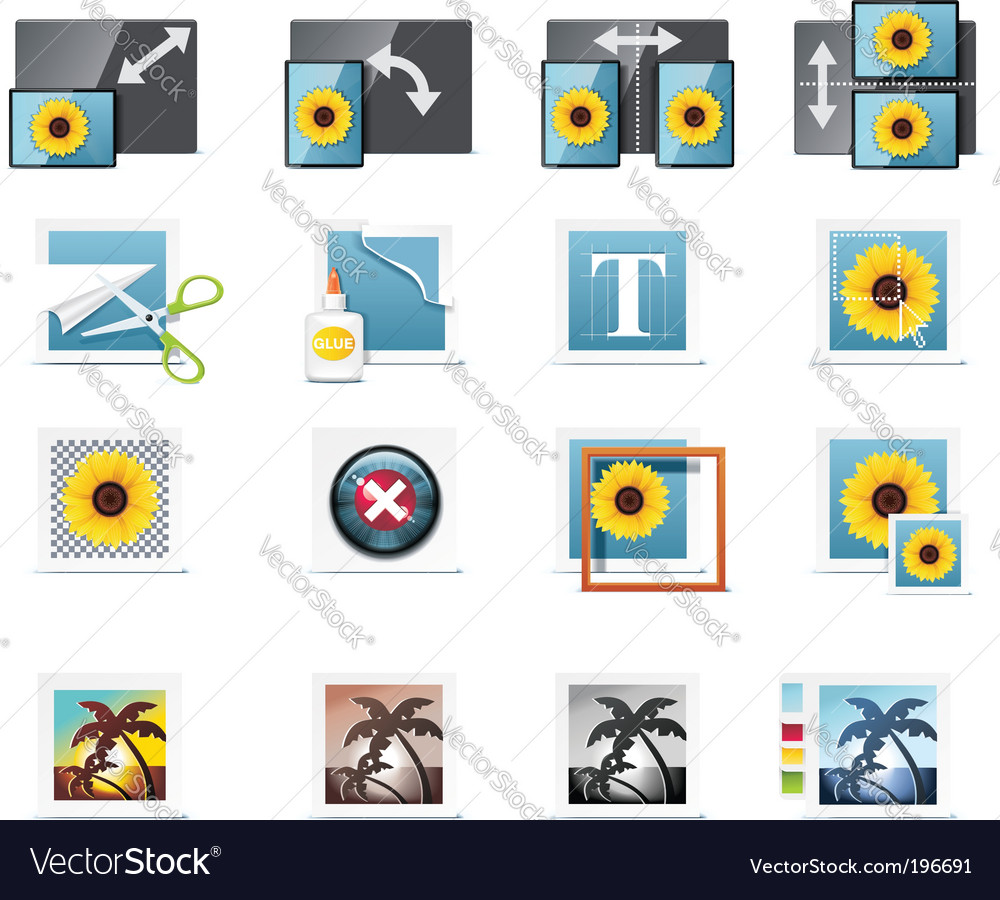 Photography icons vector | Price: 5 Credit (USD $5)