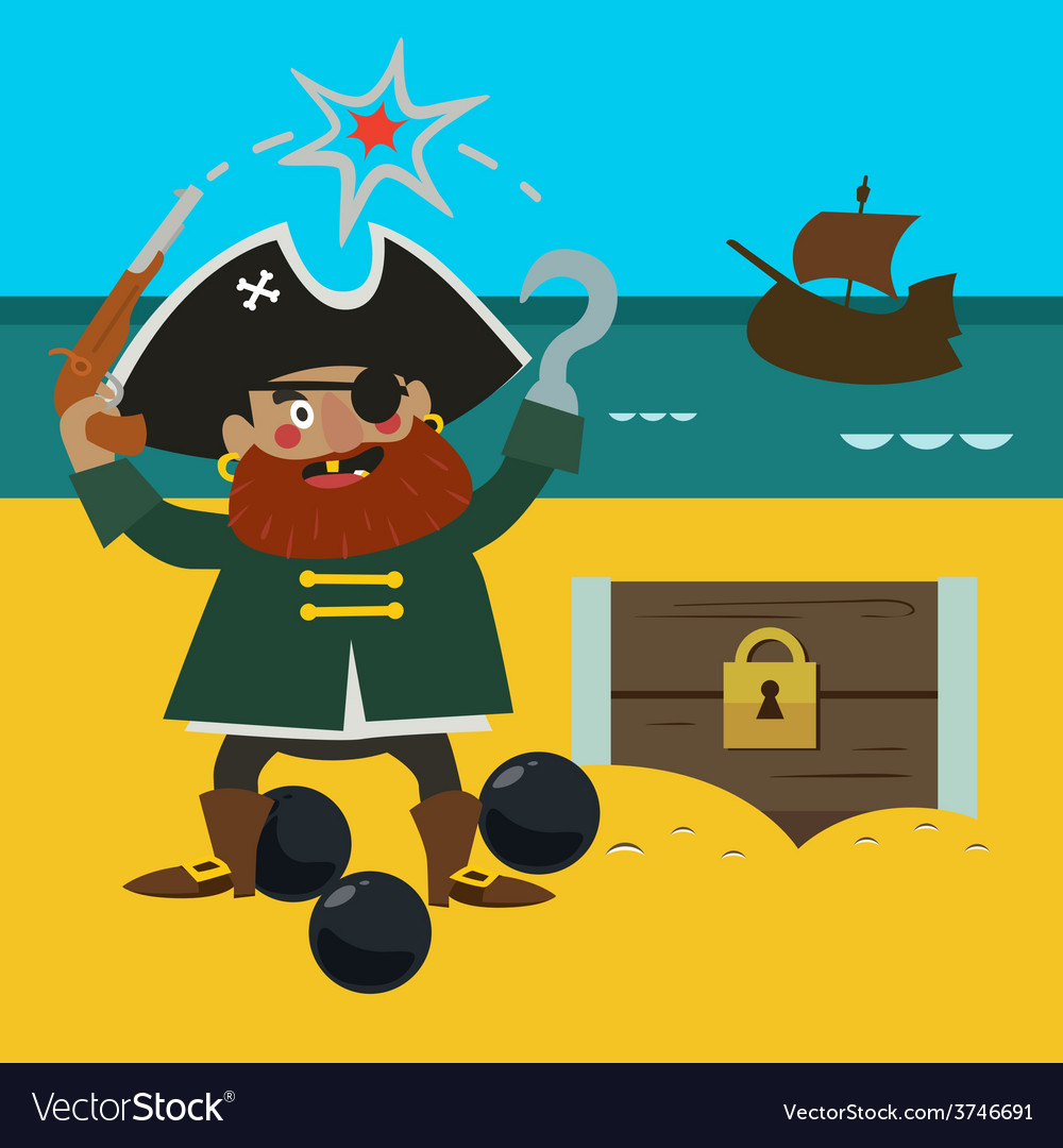 Pirate captain vector | Price: 1 Credit (USD $1)