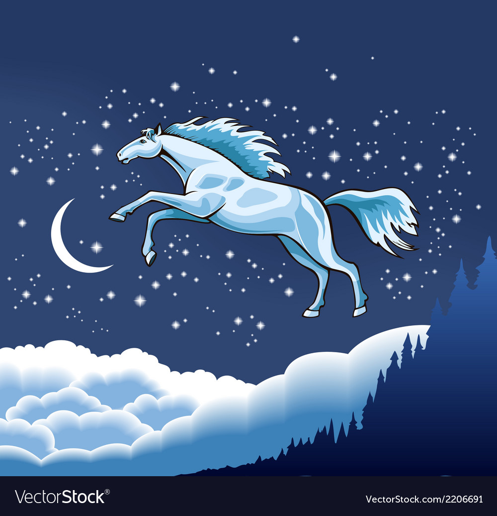 Snow horse vector | Price: 3 Credit (USD $3)