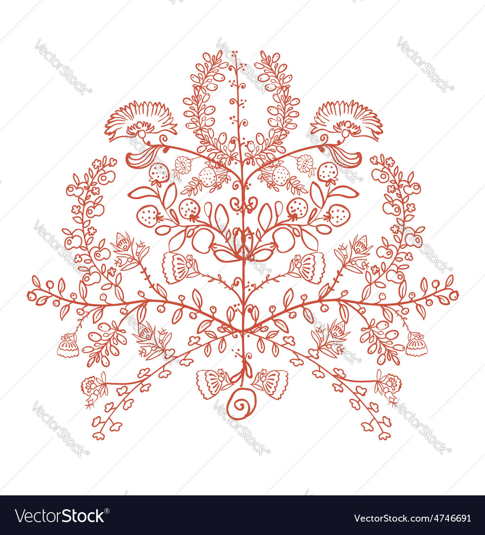Ukrainian traditional symbol the tree of life vector | Price: 1 Credit (USD $1)