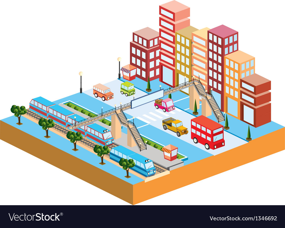 3d city vector | Price: 1 Credit (USD $1)