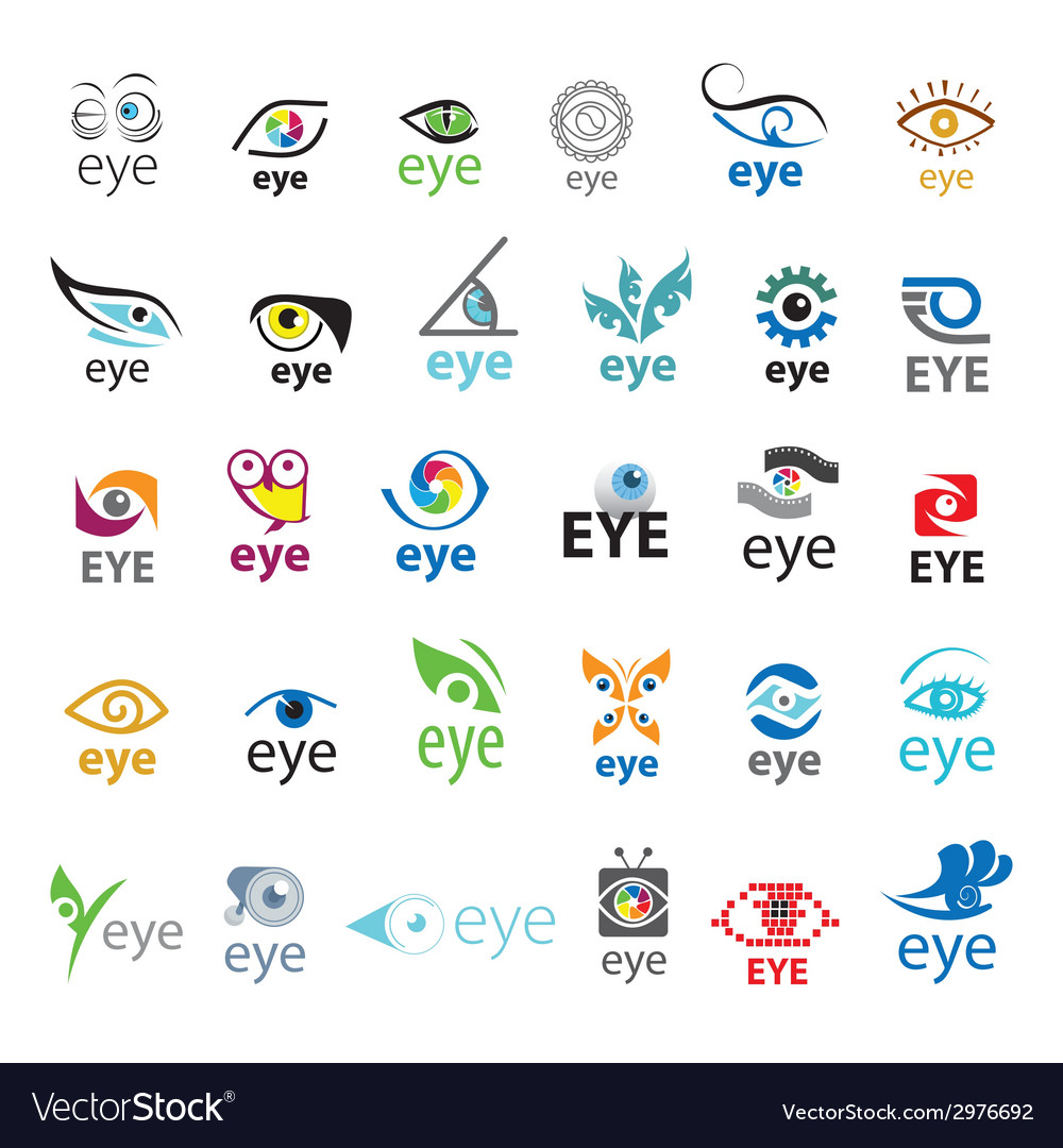 Biggest collection of logos eye vector | Price: 1 Credit (USD $1)