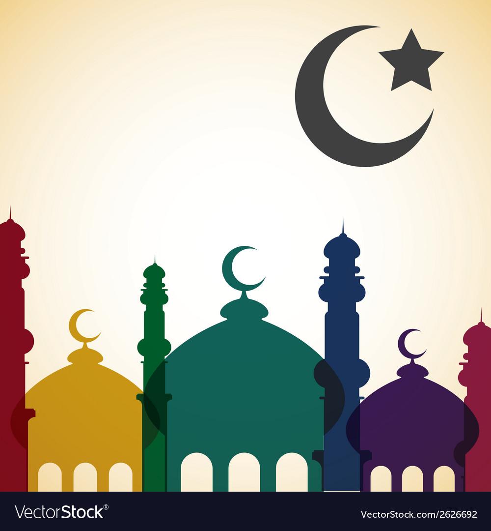 Bright islamic card in format vector | Price: 1 Credit (USD $1)