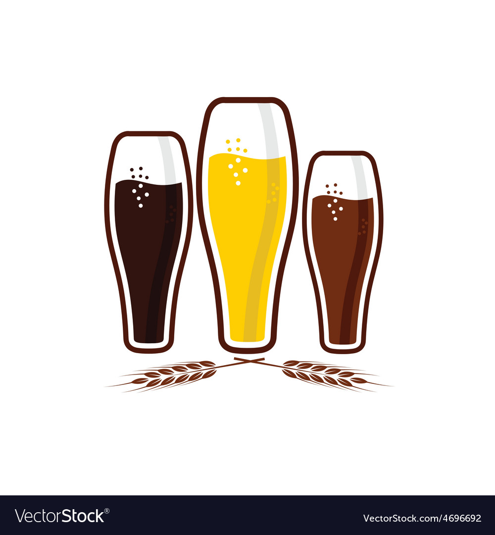 Glasses with beer vector | Price: 1 Credit (USD $1)