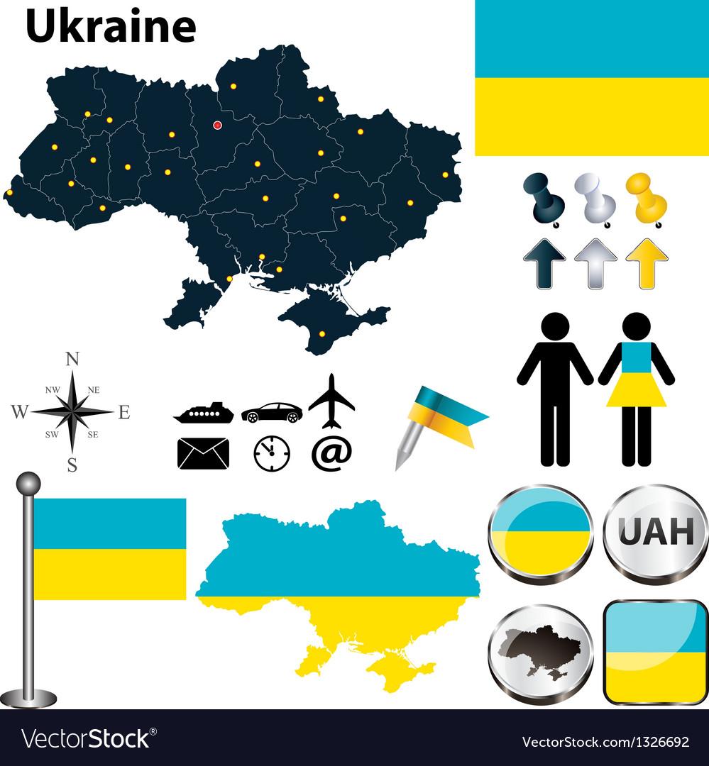 Map of ukraine vector | Price: 1 Credit (USD $1)