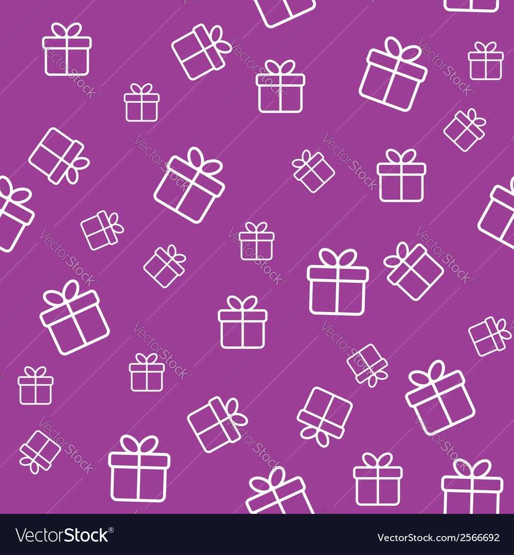 Pattern with gift boxes vector | Price: 1 Credit (USD $1)