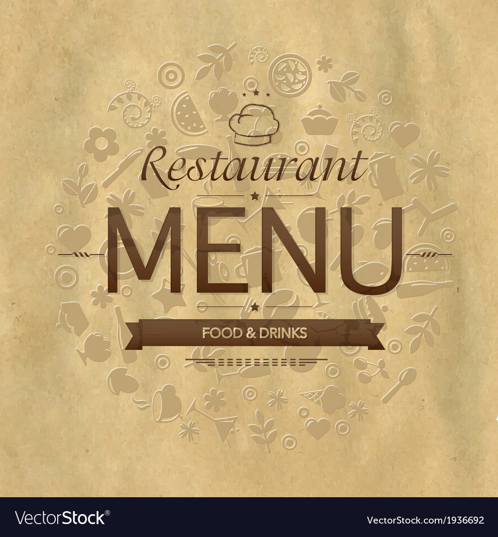 Retro restaurant menu design vector | Price: 1 Credit (USD $1)