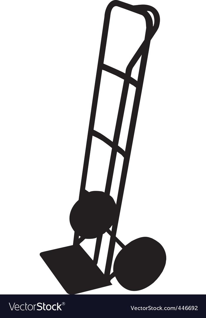 Sack trolley vector | Price: 1 Credit (USD $1)