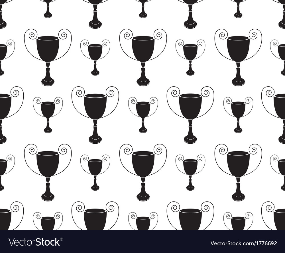 Seamless pattern with trophy vector | Price: 1 Credit (USD $1)
