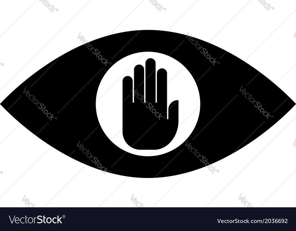 Stop spying icon vector | Price: 1 Credit (USD $1)