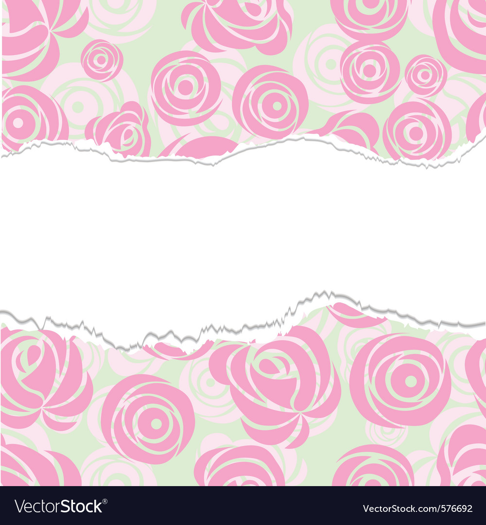 Torn paper rose pattern seamless vector | Price: 1 Credit (USD $1)