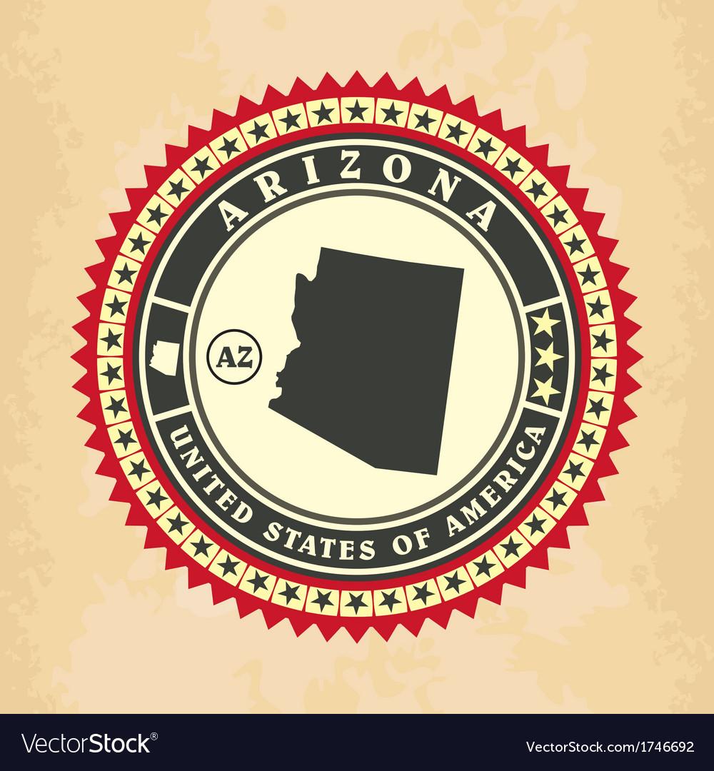 Vintage label-sticker cards of arizona vector | Price: 1 Credit (USD $1)