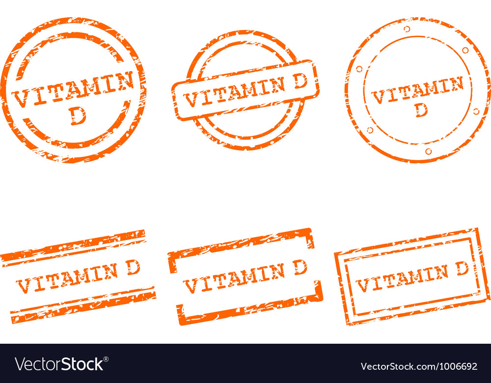 Vitamin d stamps vector | Price: 1 Credit (USD $1)