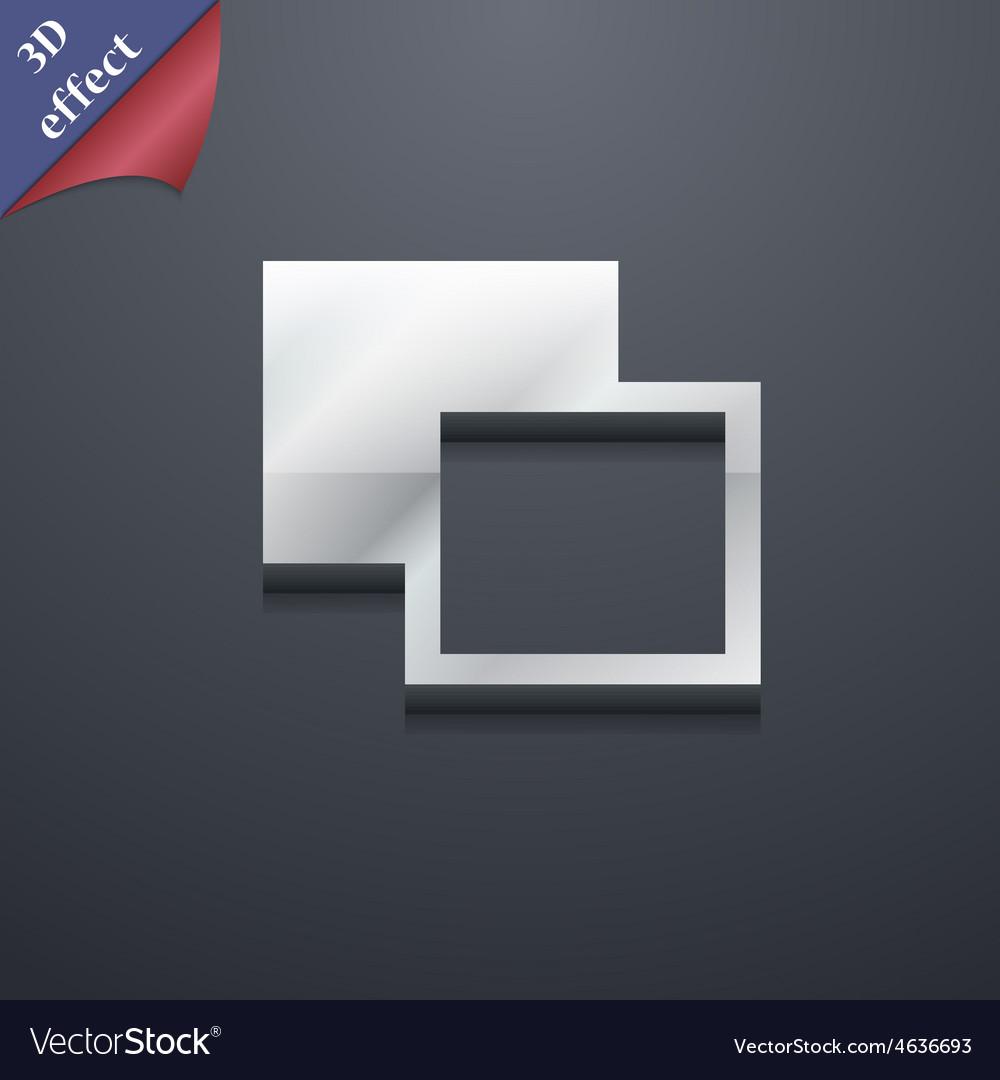 Active color toolbar icon symbol 3d style trendy vector | Price: 1 Credit (USD $1)