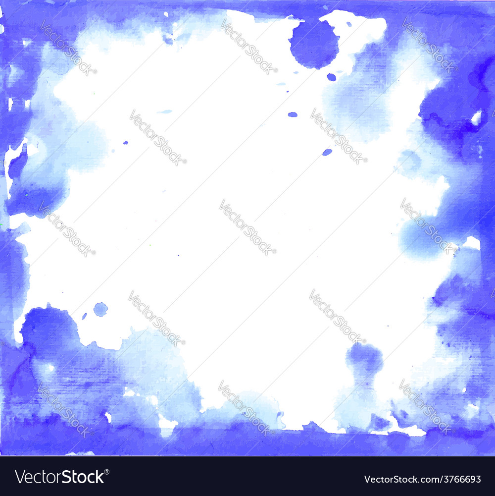 Blue paint grunge frame vector | Price: 1 Credit (USD $1)