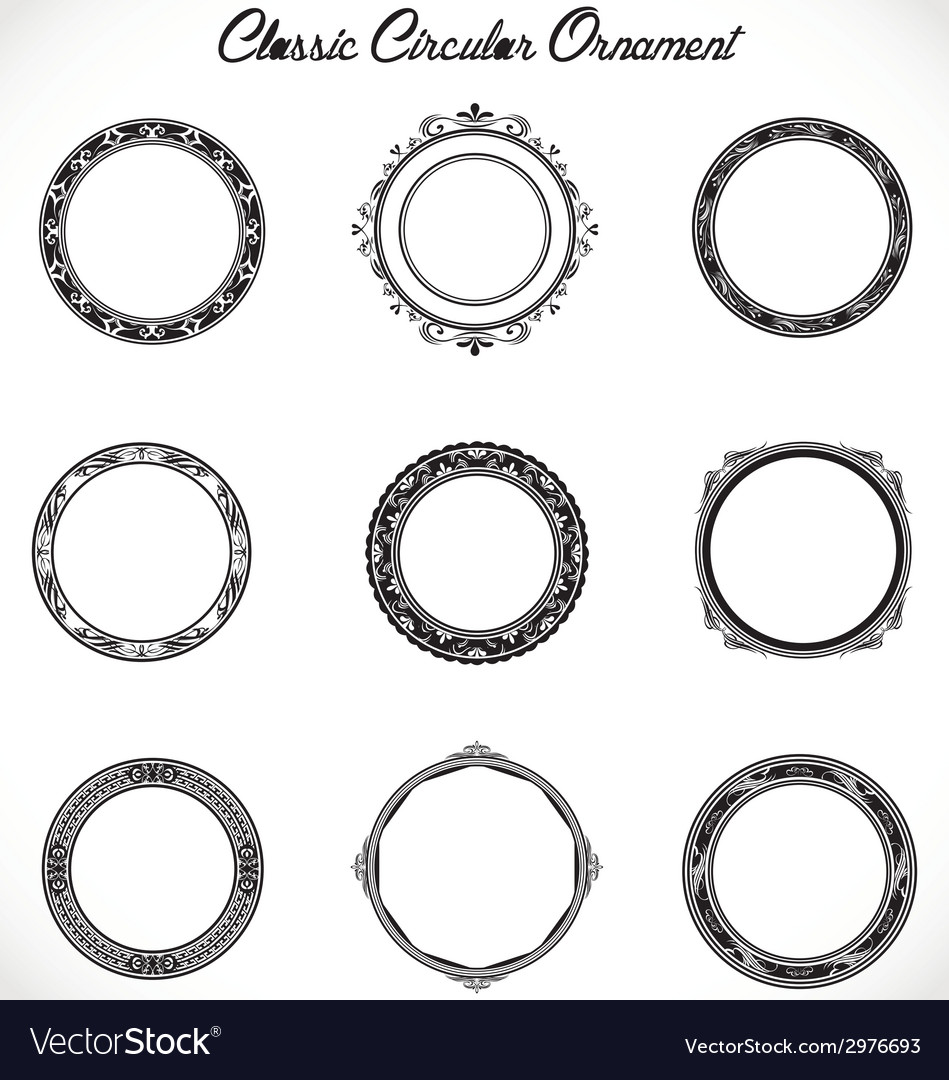 Classic circular ornament vector | Price: 1 Credit (USD $1)