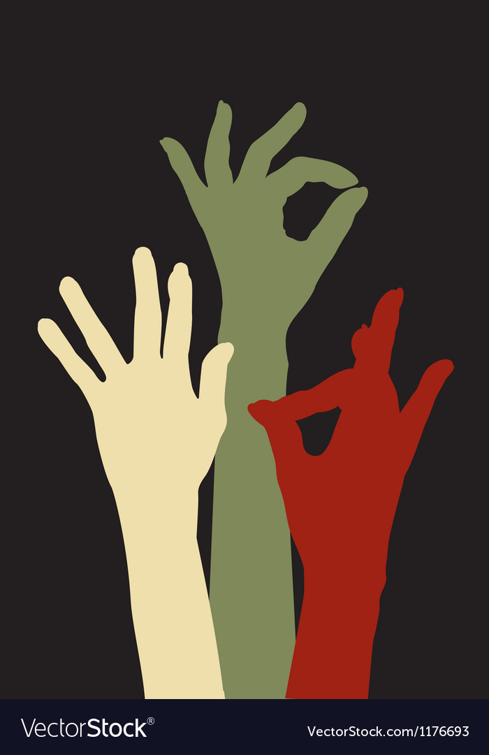 Hands of acceptance vector | Price: 1 Credit (USD $1)