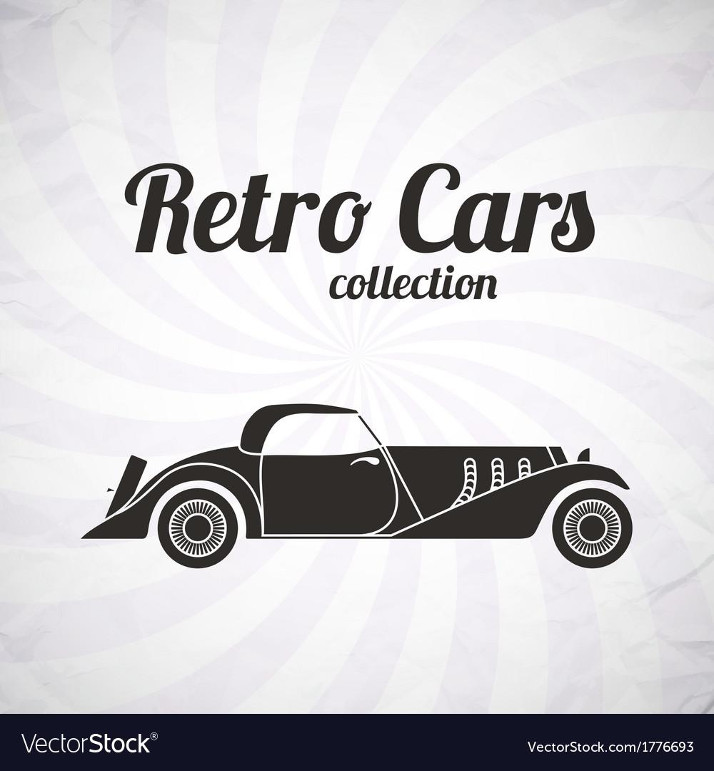 Retro cabriolet sport car vintage collection vector | Price: 1 Credit (USD $1)