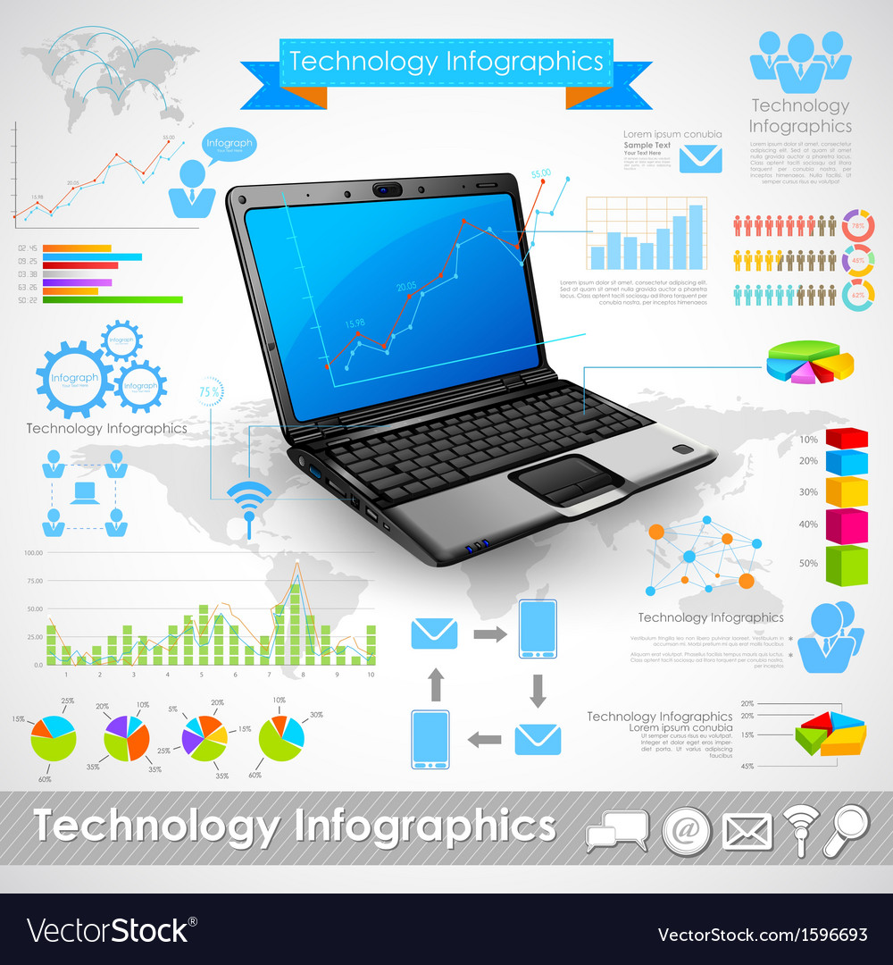 Technology infographic vector | Price: 1 Credit (USD $1)