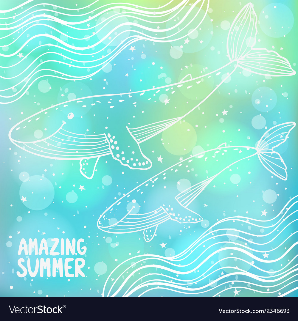 Whales vector | Price: 1 Credit (USD $1)