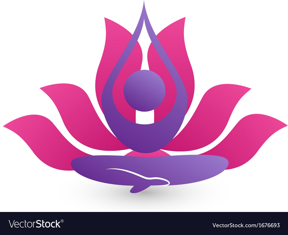 Yoga meditation logo vector | Price: 1 Credit (USD $1)