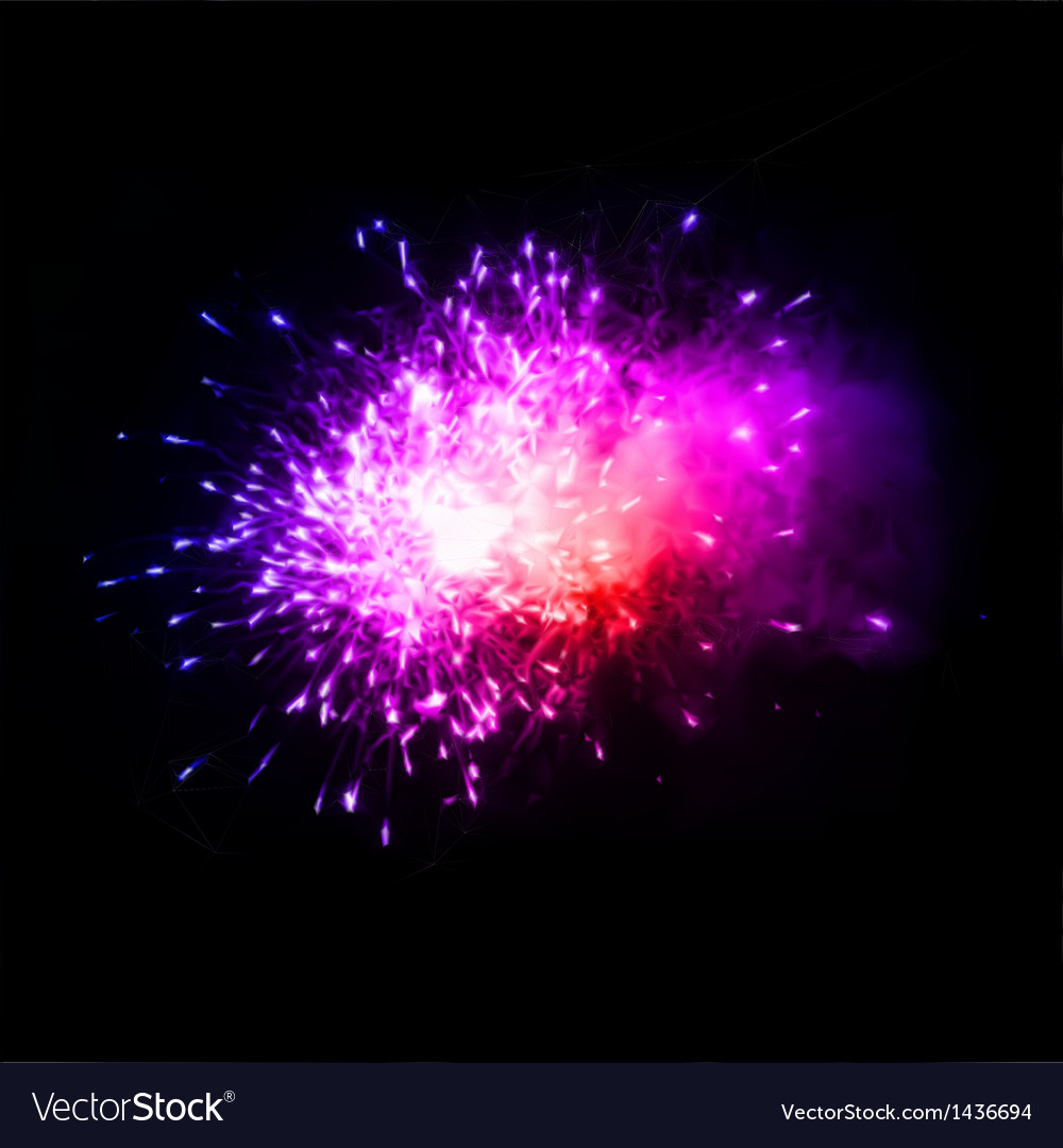 Colorful fireworks in the night sky vector | Price: 1 Credit (USD $1)