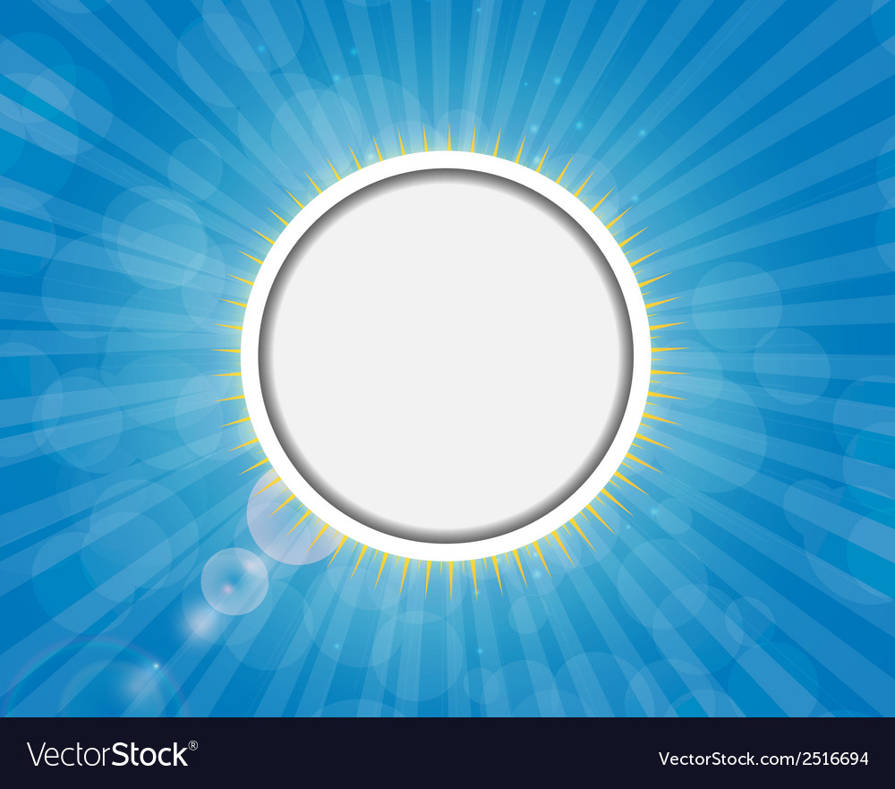 Frame on sunny shiny background vector | Price: 1 Credit (USD $1)