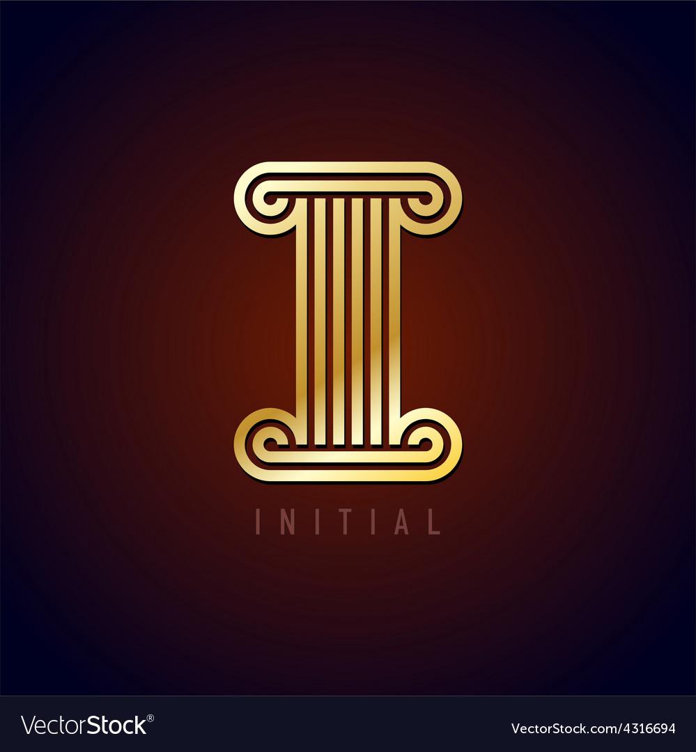 Letter i column logo vector | Price: 1 Credit (USD $1)
