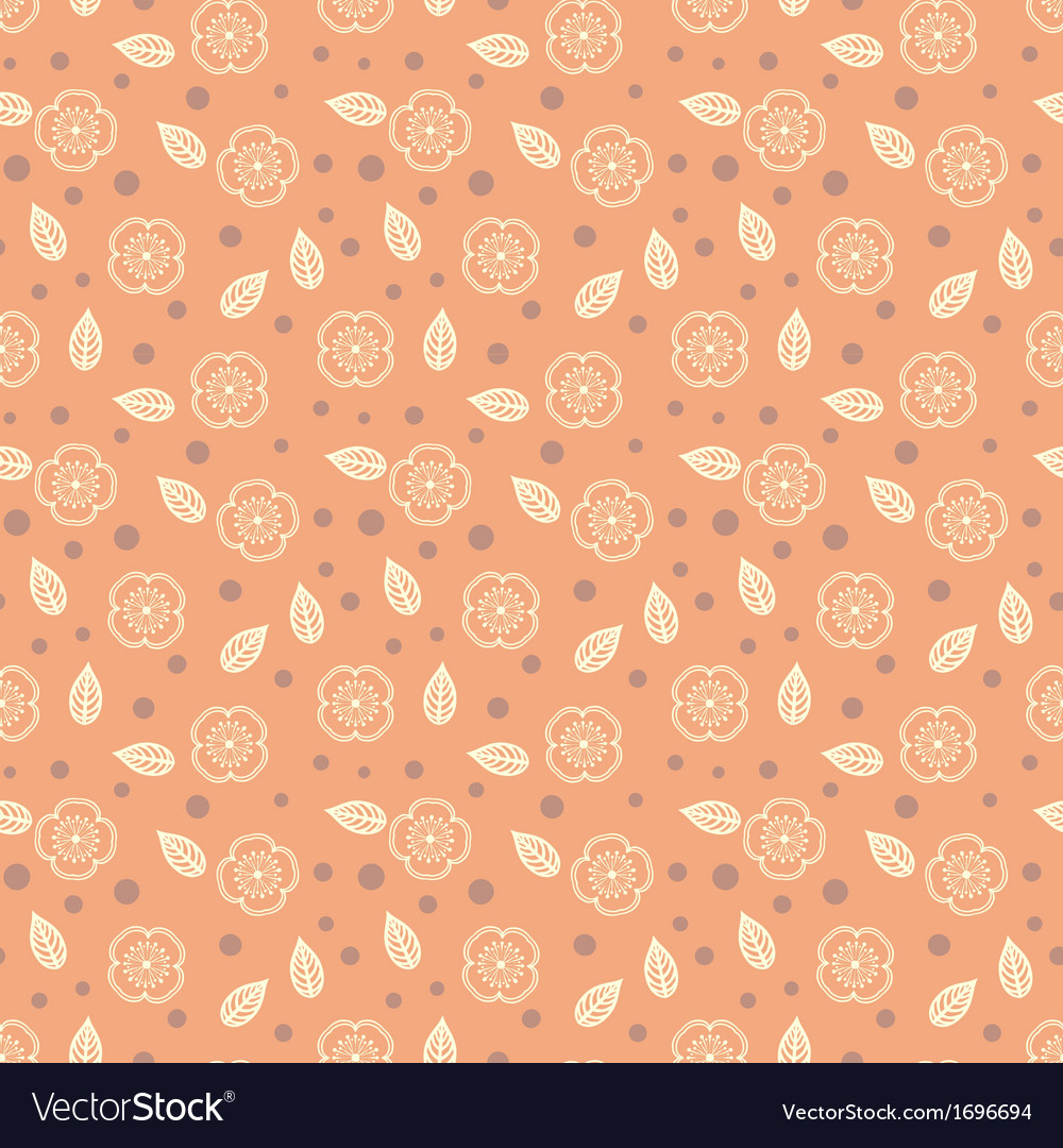 Pattern with stylized sakura flowers vector | Price: 1 Credit (USD $1)