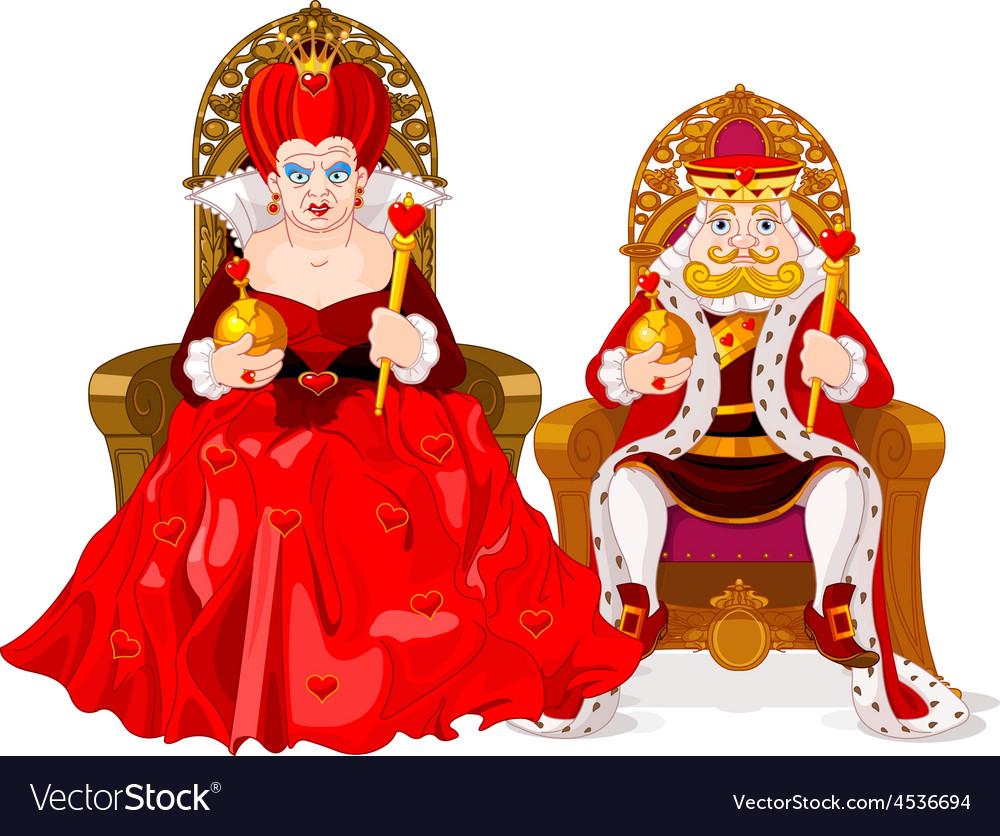 Queen and king vector | Price: 3 Credit (USD $3)