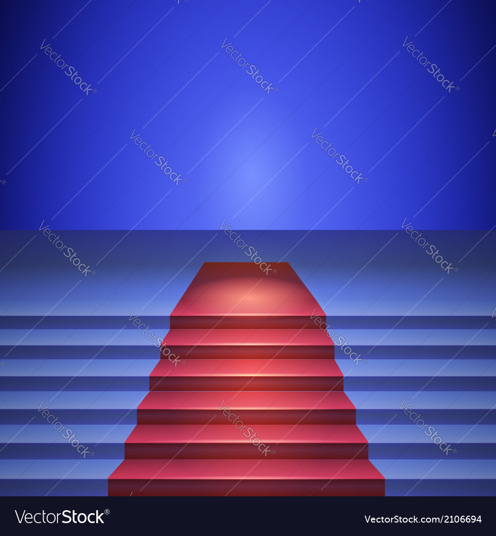 Stage with red carpet stage for performances vector | Price: 1 Credit (USD $1)