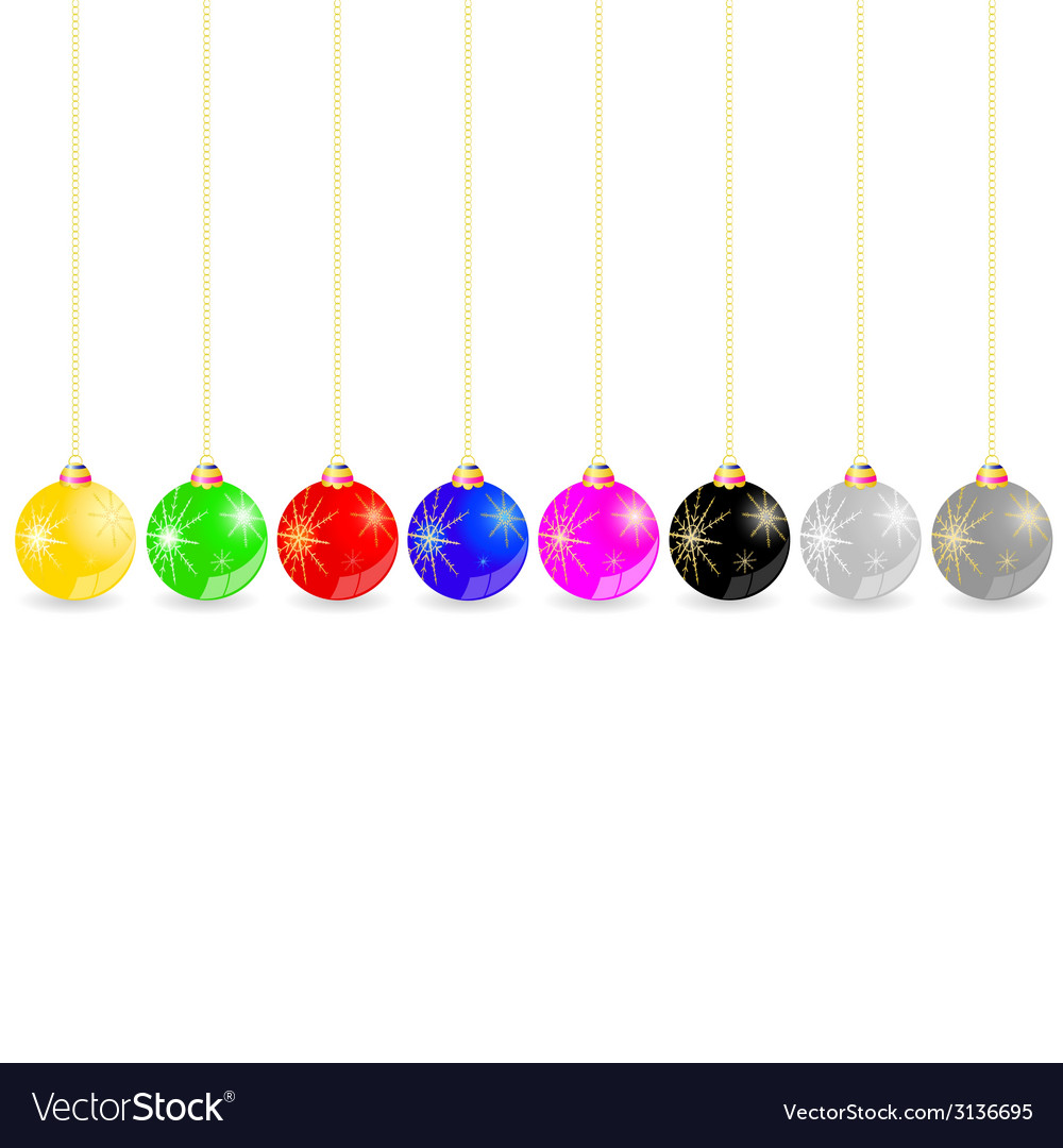 Decorative ball in different color vector | Price: 1 Credit (USD $1)