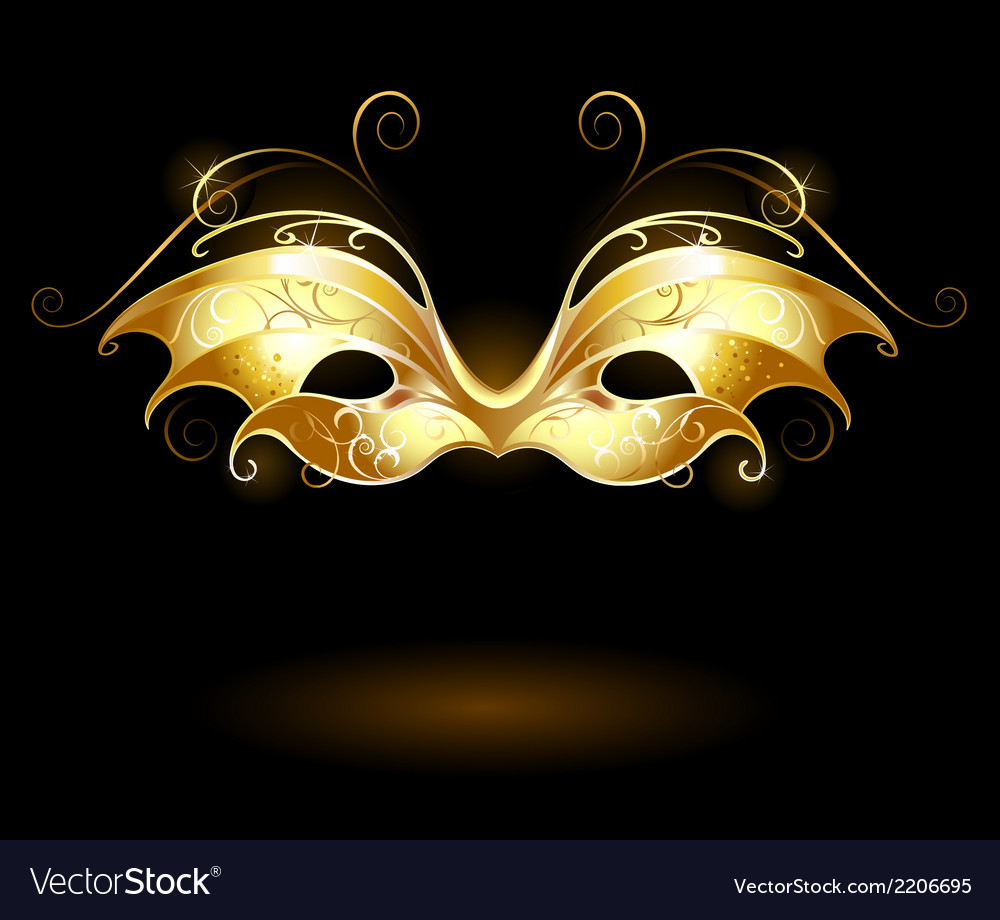 Golden mask vector | Price: 1 Credit (USD $1)