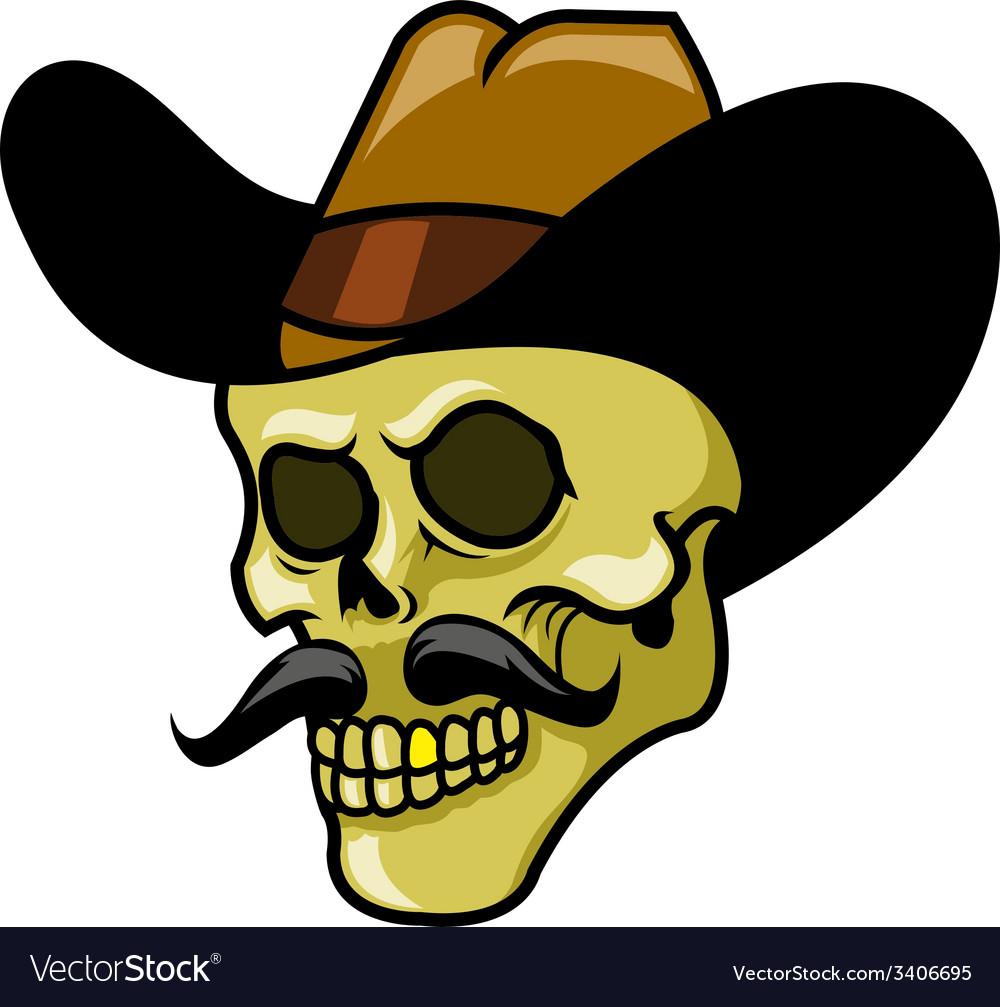 Golden teeth skull vector | Price: 1 Credit (USD $1)
