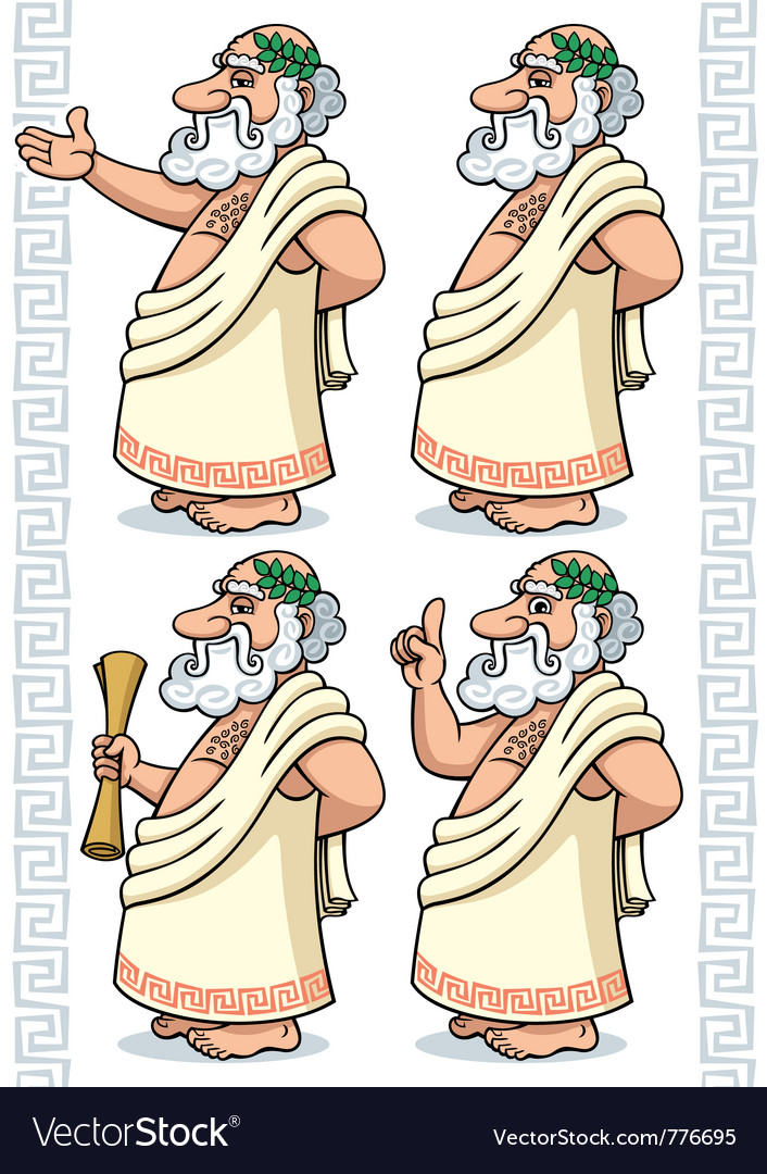 Greek philosopher vector | Price: 3 Credit (USD $3)