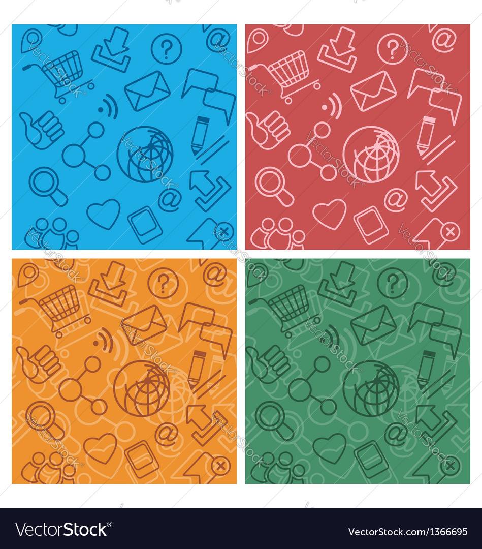 Internet community multicolor patterns vector | Price: 1 Credit (USD $1)