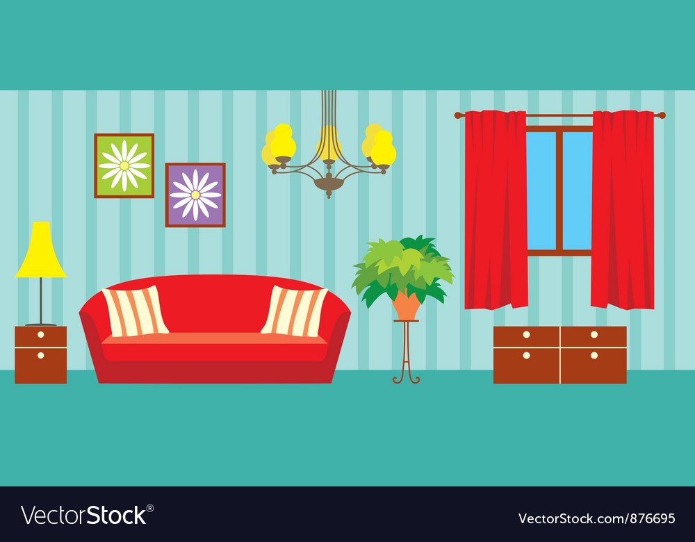 Living room vector | Price: 3 Credit (USD $3)
