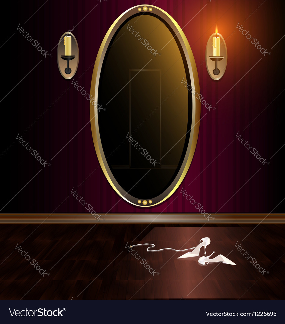 Mirror and shoes vector | Price: 1 Credit (USD $1)