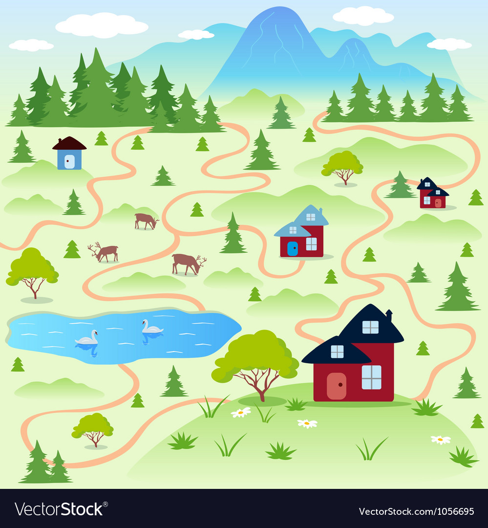 Nature map vector | Price: 1 Credit (USD $1)