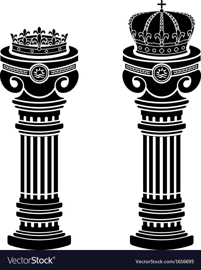 Pedestals of crowns stencils vector | Price: 1 Credit (USD $1)
