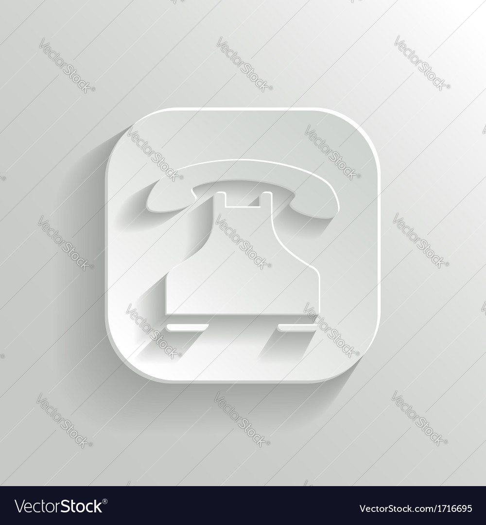 Phone icon - white app button vector | Price: 1 Credit (USD $1)