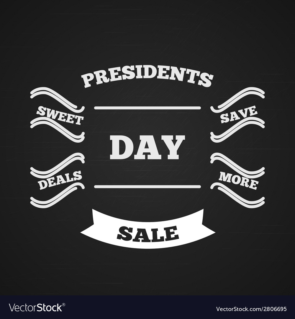 Presidents day sale typography vector | Price: 1 Credit (USD $1)