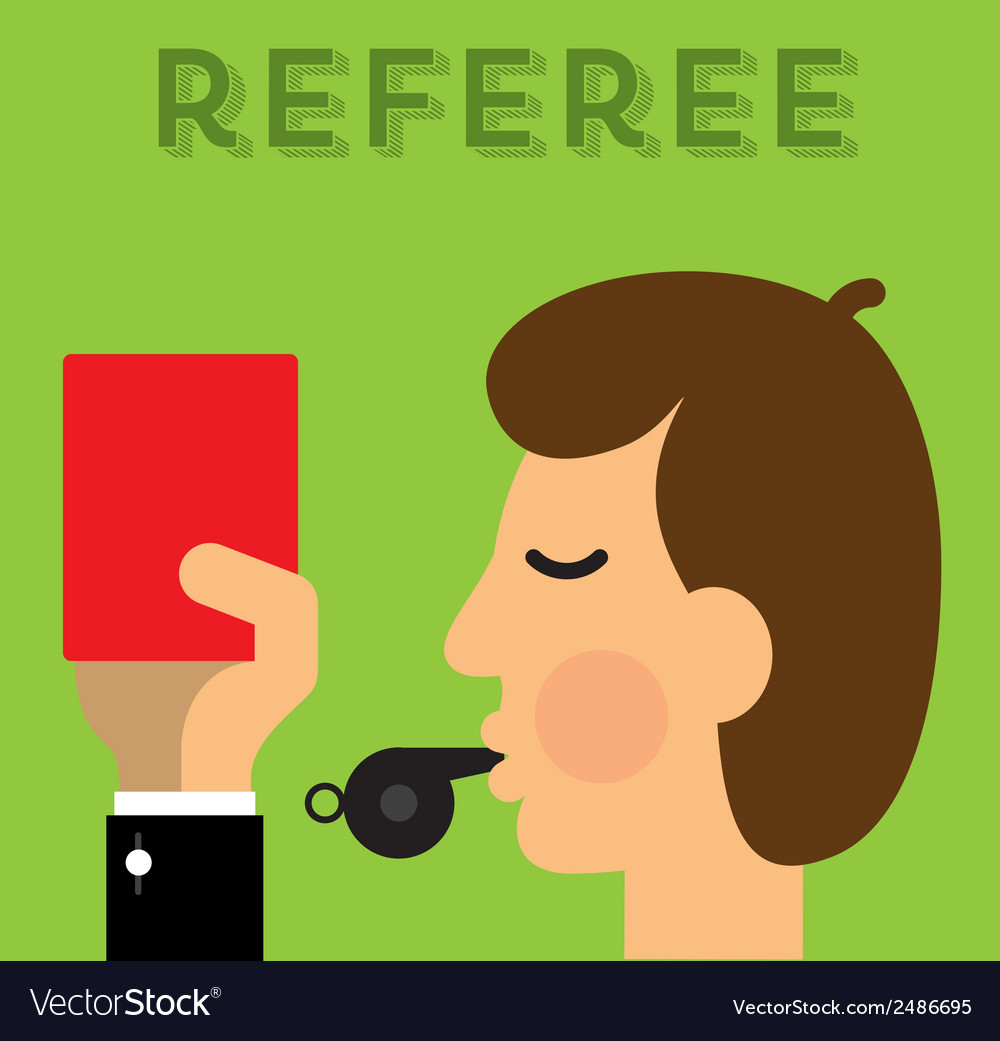 Referee vector | Price: 1 Credit (USD $1)