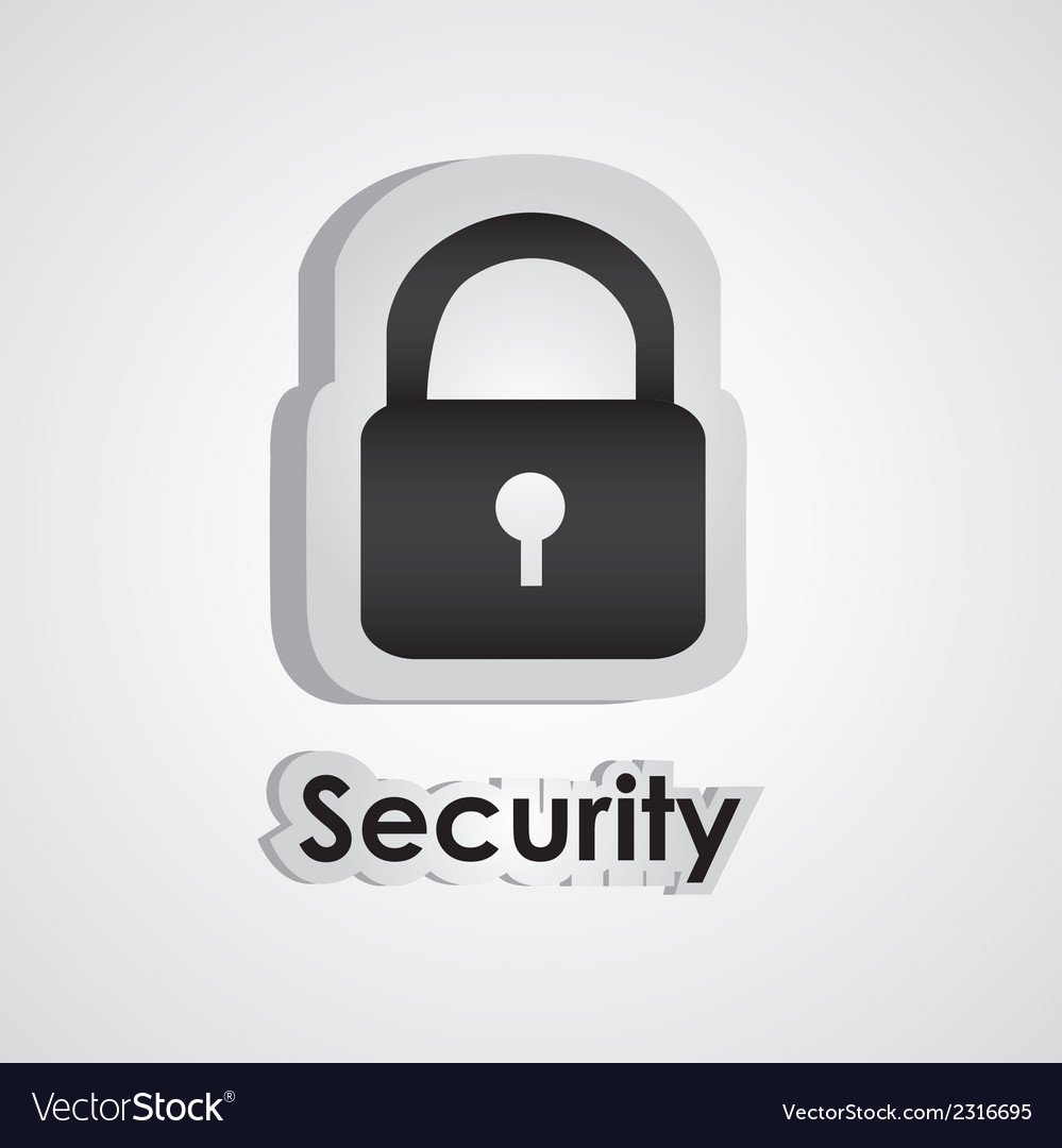 Security icon with scissors and cutting line vector | Price: 1 Credit (USD $1)